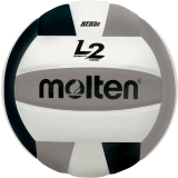 MOLTEN- Official Volleyball with Micro-Fiber Cover, NFHS Approved; Black/Silver