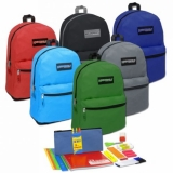 Preassembled 19 Inch Backpack & 18 Piece School Supply Kit
