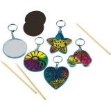 Scratch Artist Key Chains, Pack of 48