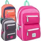 18 Inch Double Pocket Backpack - Girls, Case of 24