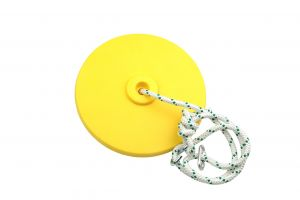 Air Swing Seat Package - Yellow Disc Seat and 11' of Red Alert Rope