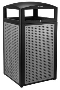 Alpine Industries Rugged 40-Gallon All-Weather Trash Containers with Steel Panels