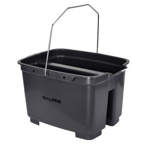 Alpine Industries 19.5 Qt. Gray Divided Plastic Bucket / Caddy