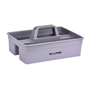 Alpine Industries Plastic Cleaning Caddy, Small 3-Compartment