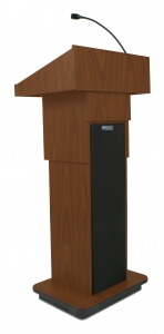 Executive Adjustable Column Lectern - Wired Sound