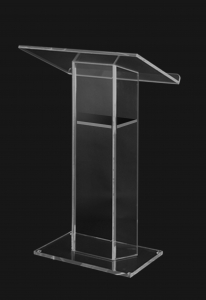 Large Top Clear Acrylic Lectern