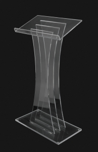 Contemporary Clear Acrylic Lectern