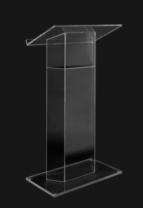 Traditional RTA Clear Acrylic Lectern