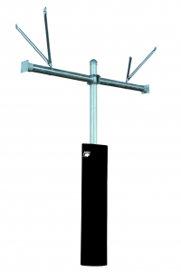 "Tough Duty 3-1/2"" Double-Sided Adjustable Basketball Pole"