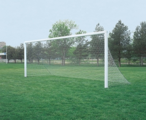 4mm White Soccer Net without Top Depth, 9'W x 4.5'H x 4.5' Bottom Depth