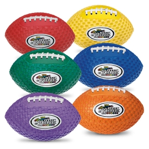 "Fun Gripper 8.5"" Football, Set Of 6 Colors"
