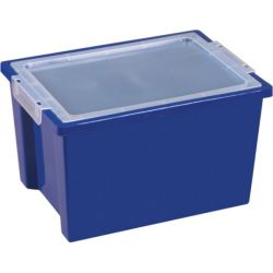 Large Storage Bins with Lid - Blue, 20 Pack