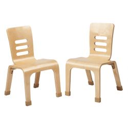 "12"" Bentwood Teacher Chair - Natural 2 Pack"