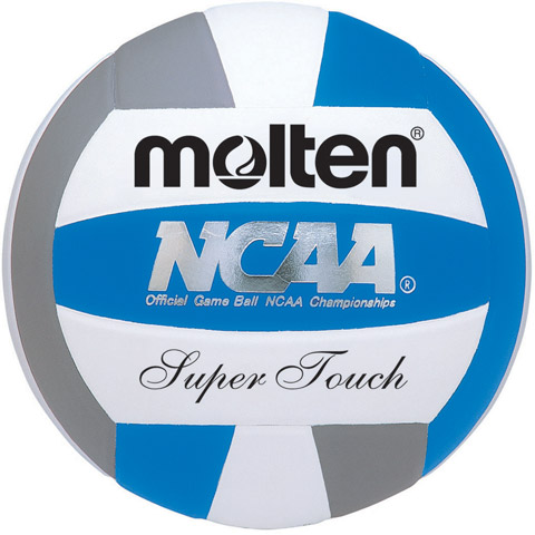 MOLTEN- Official NCAA Super-Touch Volleyball with Premium Leather Cover