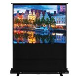 "100"" Diag. (60x80) Portable Floor Rising Screen, Video Format, Matte White Fabric"