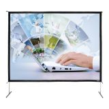 "200"" Diag. (120x160) Folding Frame Screen with Case, Video Format, Matte White Fabric"