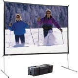"Fast Fold Screen w/ Deluxe aluminum frame. Includes rugged carry case w/ wheels. Front projection, 16:9 format, 113"" diagonal, 65 x 116 Viewing Size, Matte white fabric"