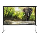 "138"" Diag. (68x120) Folding Frame Screen with Case, HDTV Format, Matte White Fabric"