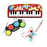 Early Learners STEAM - Do-Re-ME Music Arts Kit with Floor Piano, Electronic Drums, and Electronic Guitar