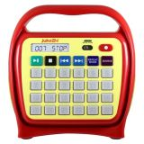 Juke24 - Portable, Digital Jukebox with CD Player and Karaoke Function - Red/Yellow