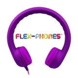 Flex Phones , foam headphone, 3.5mm stereo plug, straight cord, Purple