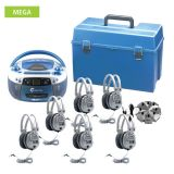 AudioStar MEGA - 6 Station Listening Center with USB, CD, Cassette, Radio Player and CD/Tape-to-MP3 converter Boombox