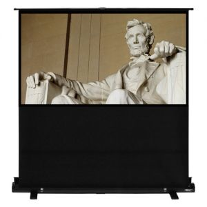 "100"" Diag. (49X87) Portable Floor Rising Screen, Hdtv Format, Matte White Fabric"