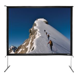 "135"" Diag. (81X108) Folding Frame Screen With Case, Video Format, Matte White Fabric"