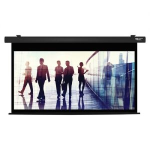 "92"" Diag. (45X80) Electric Projector Screen, Hdtv Format, Matte White Fabric - Black"