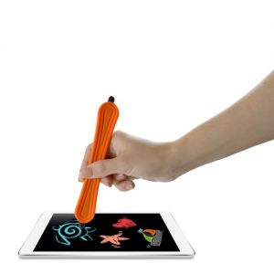 Snap-Scribe Stylus (Orange) - Universal Double-Tipped Stylus Snaps Into a Bracelet