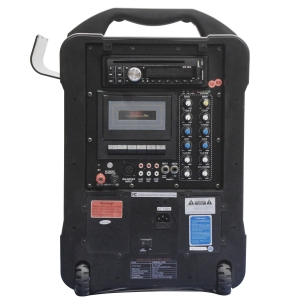 Wireless PA System - CD, Cassette, MP3, Rechargeable