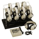8-Position Listening Center - with 2924AVP Headphones and Headphone Rack