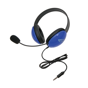 Listening First Stereo Headset - Blue - To Go Plug