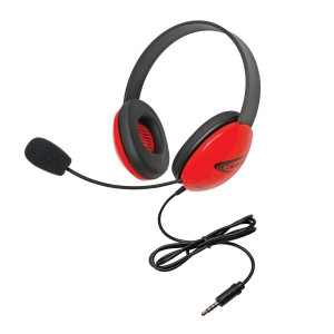 Listening First Stereo Headset - Red - To Go Plug