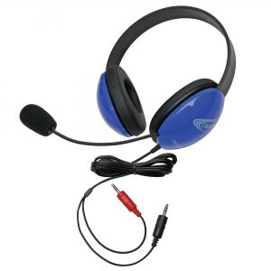 Listening First Stereo Headset - Blue - Dual 3.5mm Plugs