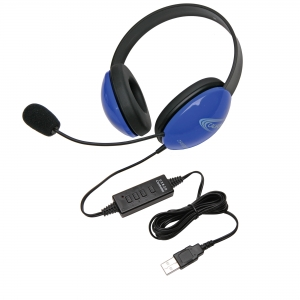Listening First Stereo Headset - Blue - USB Plug