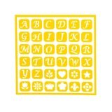 Darice Self Adhesive Stencil - Uppercase Alphabet - 6 x 6 inches