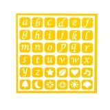 Darice Self Adhesive Stencil - Lowercase Alphabet - 6 x 6 inches