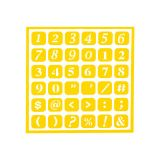 STENCIL REUSABLE SELF ADHESIVE NUMBERS 6X6IN SHT