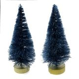 MINI XMAS SISAL TREE WITH FROST 2 PC PKG 3 IN