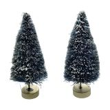 MINI XMAS SISAL TREE WITH FROST 2 PC 4 IN