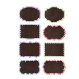 Small Chalkboard Tags with Patterned Borders - Vinyl - Assorted - 16 pieces