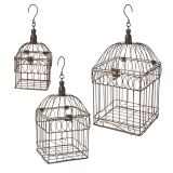 BIRDCAGE METAL SET OF 3