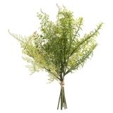 Mixed Greenery Bush with Straw Tie: 10 x 13 inches
