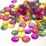 Floral Glass Gems: Multicolored, 12 ounces