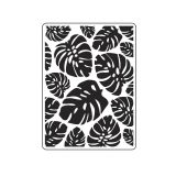 Darice Embossing Folders: Tropical Palm Leaves Background