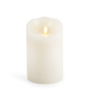 Luminara Flameless Candle - Ivory Wax Unscented Classic Pillar - 5 in