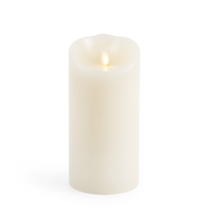 Luminara Flameless Candle - Ivory Wax Unscented Classic Pillar - 7 in
