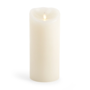 Luminara Flameless Candle - Ivory Wax Unscented Classic Pillar - 9 in