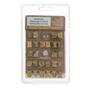 HotStamps Alphabet Stamp Set: Uppercase, 0.63 inches, 26 pieces